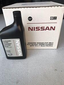 Genuine Nissan NS3 CVT Transmission Fluid 12 Quarts.  999MP-CV0NS3