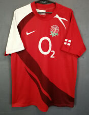 MEN'S NIKE RUGBY UNION ENGLAND 2007/2009 AWAY SHIRT JERSEY MAILLOT RED SIZE M