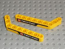 LEGO TECHNIC Yellow liftarm beam 3x7 ref 32271 / for Front Loader Set 8265