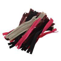 50 sortierte Kleid Polsterhandwerk Nylon Metall verschlossen offene Reissve M1E5