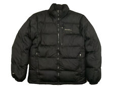 Men's EDDIE BAUER Medium Down Jacket 650 Fill Black Quilted Puffy
