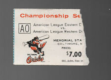 1973 ALCS Ticket Stub A's at BALTIMORE ORIOLES American League Championship