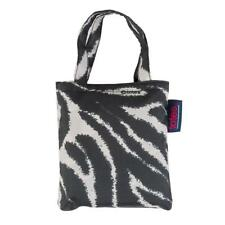 totes Black & Cream Zebra Print Shopping Bag