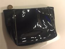 Yves Saint Laurent Ysl Beaute Beauty patent black cosmetic Bag Makeup Case small