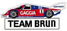 Team Brun Porsche GAGGIA Sticker Aufkleber