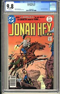 JONAH HEX #2  CGC 9.8 WP NM/MT  DC Comics 1977  Western Bronze Age (vol 1)