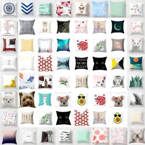 18'' Throw Pillow Case Waist Cushion Cover Home Chair Decor Square Pillowcase