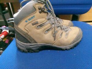 K-Way brown waterproof walking boots size 8