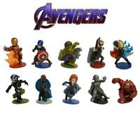 Marvel Avengers 10 Figure Set Cake Toppers Toy Decoration Hulk Iron Man Hawkeye