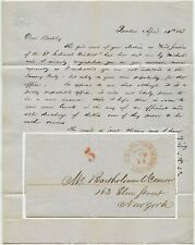 More details for usa 1848 letter re bartholomew oconnor civil justice ny..boston express mail