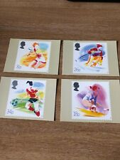 Royal Mail Stamp Post Cards PHQ 109 Sport 1988 Set