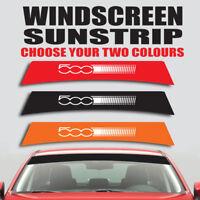 Fiat 500 windscreen sunstrip car graphics decal sticker ss25