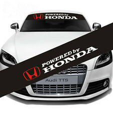 Reflective POWERED by HONDA Windshield Banner Decal Front Rear Car Honda Sticker