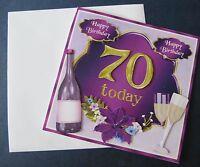 "3D-Grußkarte Geburtstagskarte ""Happy Birthday"" 70.Geburtstag Handarbeit"
