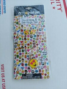 Emojination Necklace & Earrings Set NIP (Ages 3 and up)