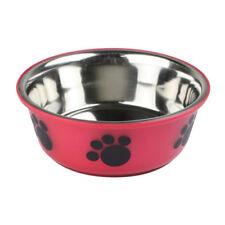 Gamelles et distributeurs rouges en acier pour chien