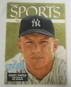 Mickey Mantle June 18th 1956 Sports Illustrated Full Magazine 1st Cover KCCA011