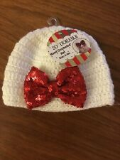NEW Hand Crocheted Baby Girl Hat  So Dorable 0-6 mo