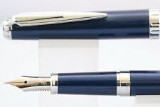 Vintage Sailor Reglus Lacquered Dark Blue Fine Fountain Pen, Chrome Trim