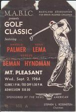 Circa 1964 ARNOLD PALMER Autographed M.A.B.I.C. Charity Golf Classic Ticket