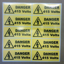 40 X Danger 415 volt stickers 50mm X 20mm Warning & Safety Signs