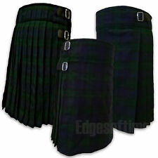 "SCOTTISH BLACK WATCH TARTAN KILT HIGHLAND TRADITIONAL DRESS FROM 26"" TO 48"""