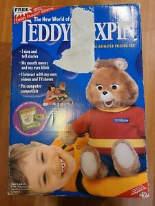 Teddy Ruxpin Animated Talking Toy Airship Book & Tape New 1998 opened box