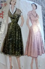 LOVELY VTG 1950s DRESS Sewing Pattern BUST 39