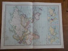 Antico Mappa a colori c1904 il vecchio mondo harmsworth ATLANTE UNIVERSALE