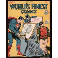 World's Finest Comics No. 23 Reproduction Poster Print Superman Batman Robin