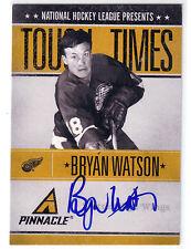 BRYAN WATSON  10-11 PINNACLE TOUGH TIMES AUTO AUTOGRAPH /250 * DETROIT RED WINGS