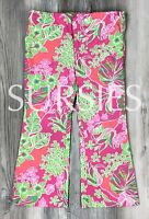 LILLY PULITZER PANTS Girls JUBILEE 50th ANNIVERSARY Pink Green Tropical Size: 2T