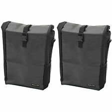 2x PEDALPRO SINGLE WATERPROOF CYCLE PANNIER BAG BIKE/BICYCLE COMMUTE/SHOPPING