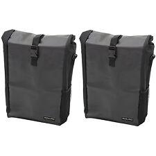 2x PEDALPRO Single Waterproof Cycle Pannier Bag Bike/bicycle Commute/shopping