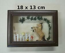 vitrine miniature,cheval prairie, décoration, maison de poupée,vitrine  03