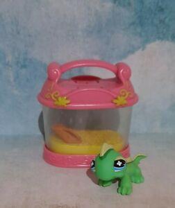 Littlest pet shop Pink lizard In Cage  - LPS 🦎