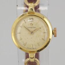 Vintage Omega Manual Wristwatch 18ct Yellow Gold