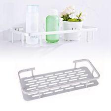 1 Tier Wall Mounted Bathroom Shelf Shower Rack Shampoo Soap Holder Hanger