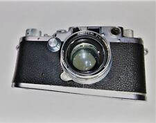 Vintage Leica Camera D.R.P. Ernst Leitz Wetzlar With Lens And Leather Case