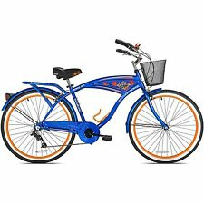 Mens Beach Cruiser Bike 7 Speed 26 In Bicycle Shimano