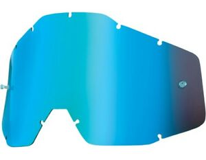 100% - Replacement Blue Mirror Lens for Racecraft Accuri Strata  - 51002-002-02
