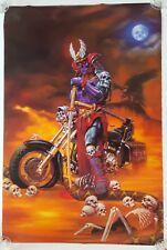 "RaRe. vintage Dark Rider poster 24x36"" Kunio Hagio bike motorcycle night (1998)"