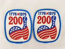 Bowling Patch 1776-1976 Bowling 200th Bicentennial Bowl Ball Pin Lot of 2
