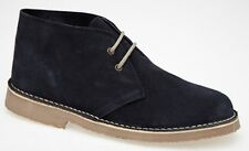 Roamers Unisex Suede Lace-up Ankle Desert BOOTS Mens UK 6 / EU 40 Navy Blue Real