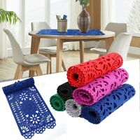 Felt Floral Hollow Out Table Runner Modern Placemat Wedding Home Table Decor