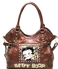 Betty Boop Brown Leather Shoulder Style Purse