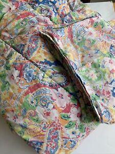 Ralph Lauren Full Queen Comforter w 2 Standard Shams RARE Colorful Garden Floral