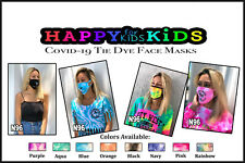 Tie Dye B Face Mask Mouth Cover 3 Layers Reusable Washable Unisex Made in USA