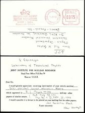 Russia Meter postmark Postcard 1982. Dubna Institute for Nuclear Research ##03