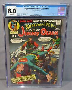 SUPERMAN'S PAL JIMMY OLSEN #134 (Darkseid 1st appearance) CGC 8.0 VF DC 1970